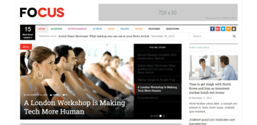 DW Focus - lite WordPress theme for blogs