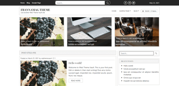 Frannamag - simple blog theme for WordPress