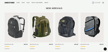 OneStore - a free lightweight theme for WooCommerce stores