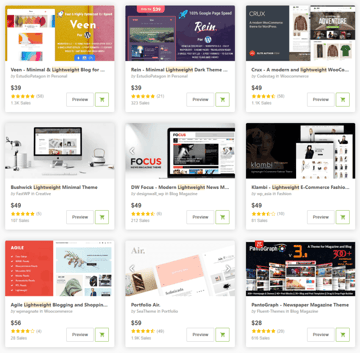 ThemeForest - a big marketplace for selling WordPress themes