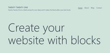 Twenty Twenty One - default theme in a fresh WordPress website