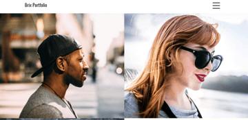 Brix Portfolio - a portfolio theme for creatives and designers