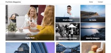 Portfolio Magazine - simple blog theme for portfolio websites