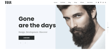Adios - a beautiful portfolio theme suitable for freelancers and individuals