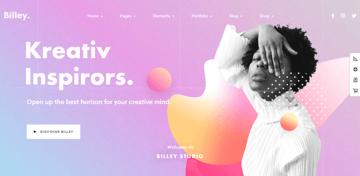 Billey - multi-use WordPress theme for portfolio websites