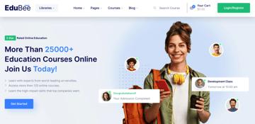 EduBee - useful learning managment theme for WordPress