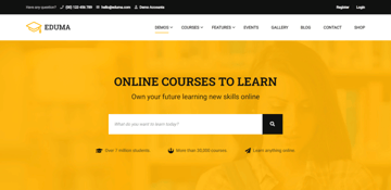 Eduma - popular LMS theme for WordPress