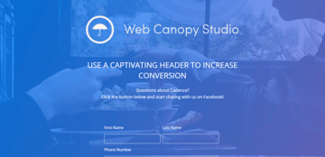 Cadenza - a landing page template for contact-us pages