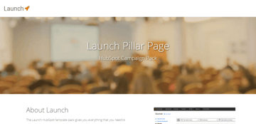 Launch Pillar Lander - A landing page for your home page