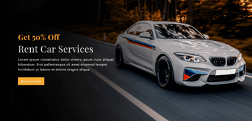 Rent Car Services Responsive Landing Page comes with a beautiful hero image and useful forms for rental car services