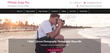 FPhoto Snap Lite - free WordPress theme for photographers