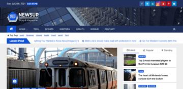 Newsup - Free news theme for a WordPress website