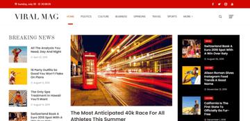 Viral Mag - A beautiful magazine WordPress theme for free