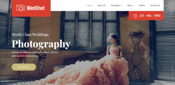 Wedshot - An elegant free theme for photography companies