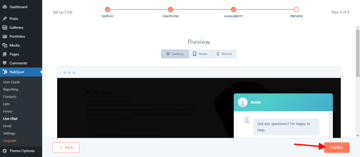 Review and publish your first HubSpot chatflow
