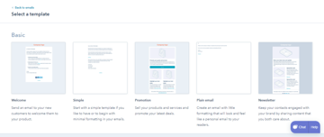 Choose a template for your email newsletter