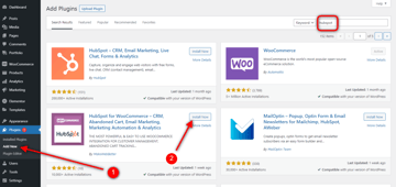 Download and install the HubSpot plugin
