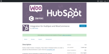 a WordPress plugin for integrating WooCommerce with HubSpot