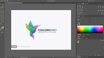 Copy the logo from the Illustrator file
