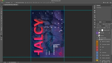 Main Photoshop file with updated copy