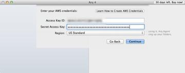 Arq Backup Setup S3 Credentials