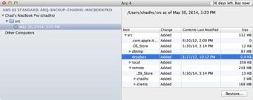 Arq Browse Backups