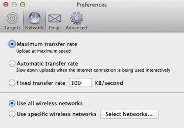 Arq Network Preferences