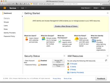 Amazon Web Services IAM Groups