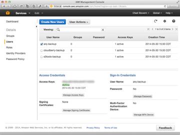 Amazon Web Services IAM User Listing