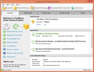 CloudBerry Backup Status