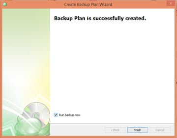 CloudBerry Backup Wizard Successfully Created