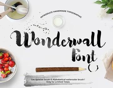 Wonderwall font