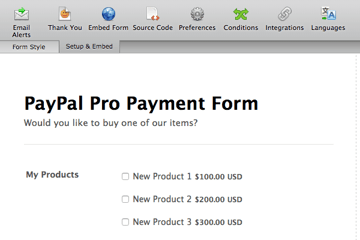 Paypal Pro Payment Form