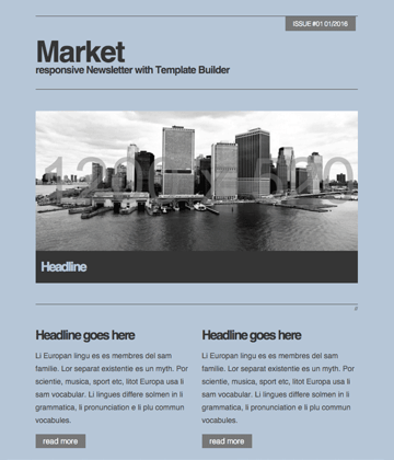 Market - Responsive Newsletter with Template Builder