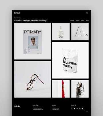 Bifrost - Simple Portfolio WordPress Theme - masonry