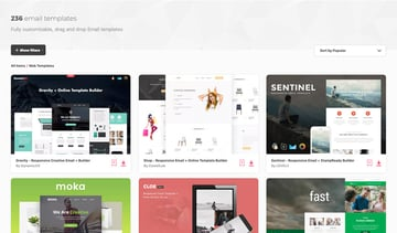 Browse through the hundreds of simple Mailchimp templates available on Envato Elements