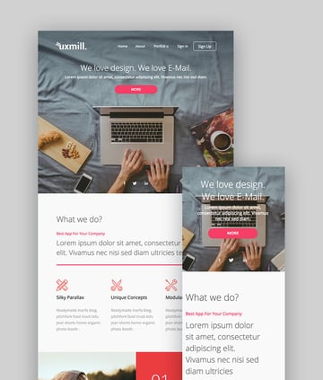 Uxmill - Responsive Email Template
