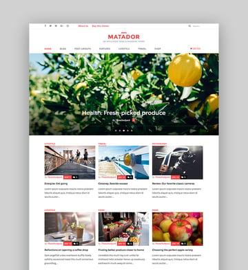Matador - Responsive News Blog Magazine Theme