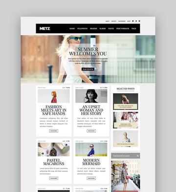 Metz - A Fashion Editorial Magazine Theme