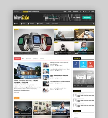 Newstube - Magazine Blog Video Theme