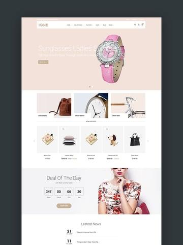 iOne - Drag Drop Minimal Responsive Shopify Theme