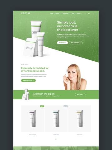 Moist - Beautiful Single Product Shopify Theme