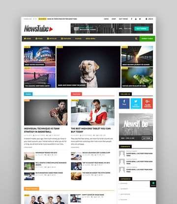 NewsTube - WP Magazine Blog  Video