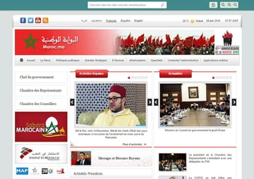 Old fashioned interface since responsive and multilingual for marocma the Moroccan web portal
