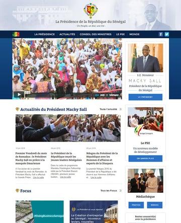 Republic of Senegal official website wwwpresidencesn