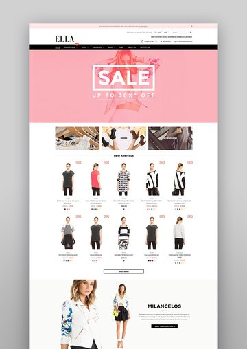 Ella Responsive Shopify Template Sections Ready