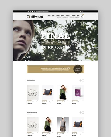 The Retailer - Responsive WordPress Theme