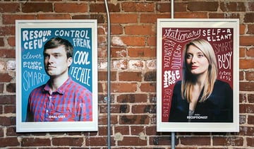 Remind colleagyes about the user by turning personas into office art