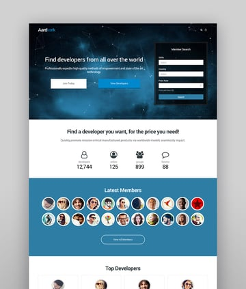 Aardvark - Community-Mitgliedschaft BuddyPress Theme
