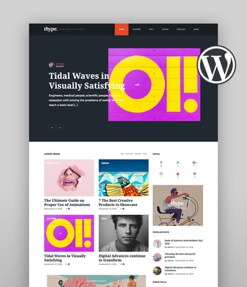 Thype  Personal Blog WordPress